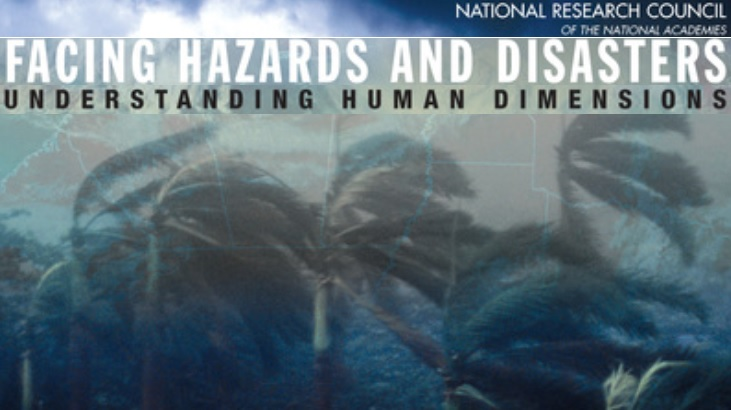 book cover (hazards and disasters)