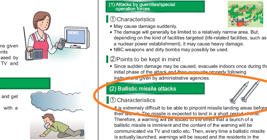 screenshot of pdf about civil defense, including missle attack